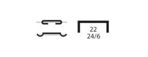 grapas 22 24/6 para grapadora M-88