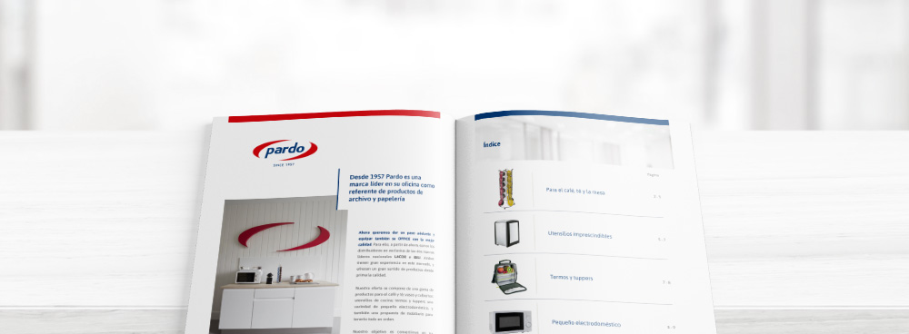 Nuevo catálogo productos para office pardo